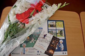 В первый день нового учебного года псковские школьники повторили правила электробезопасности
